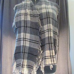 J. Crew gray plaid scarf